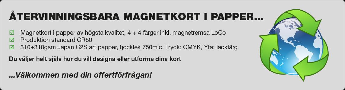 Magnetkort av papper