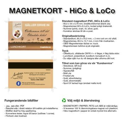 Magnetkort - Standard